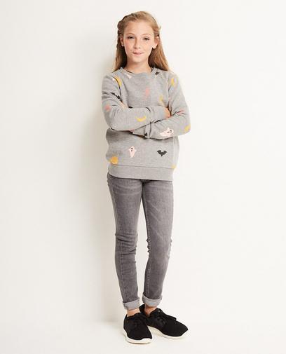 Sweatshirt mit Gruselmotiven